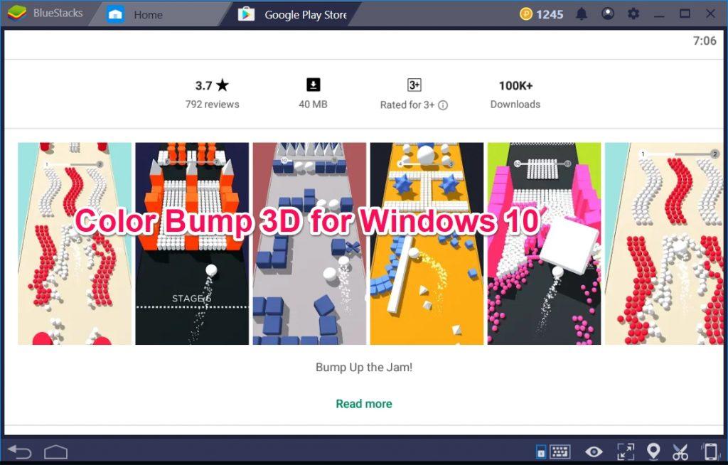 Color Bump 3D for Windows 10