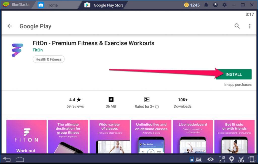 FitOn Premium Fitness for Windows 10