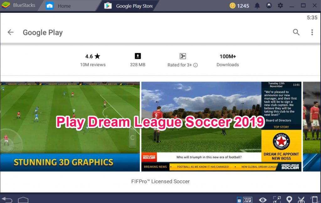 Play Dream League Soccer 2019 on Windows or macOS pc