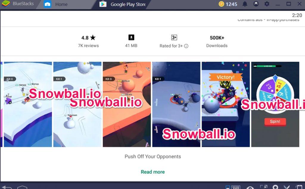 Snowball.io for windows 10