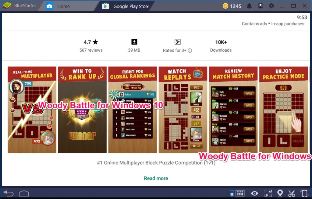 Woody Battle for Windows 10