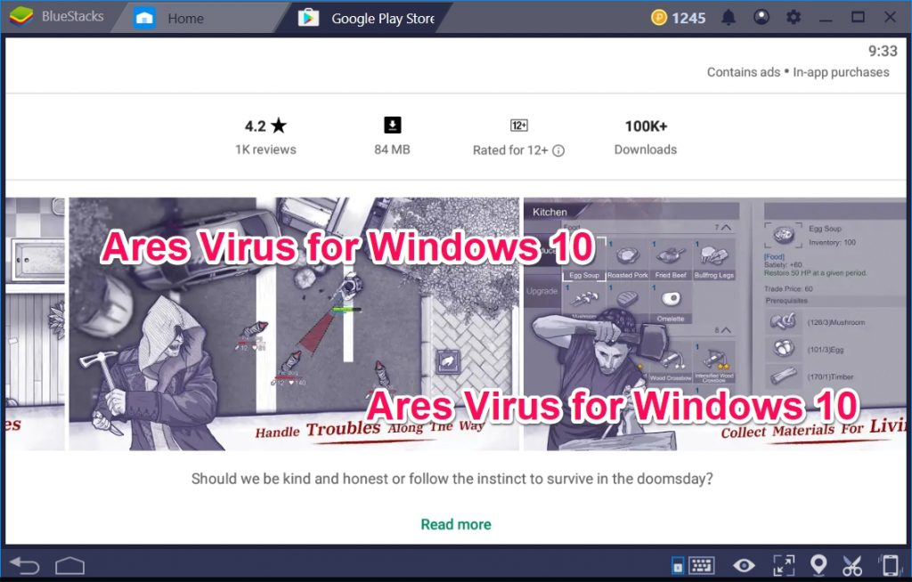 Ares Virus for Windows 10