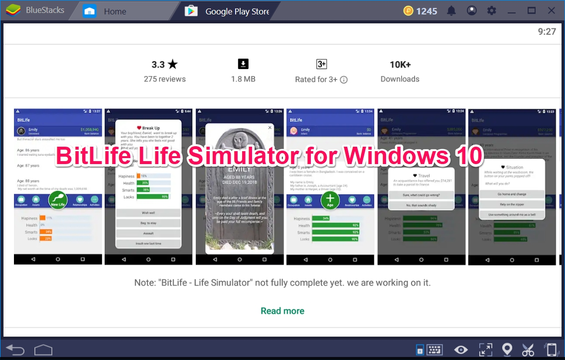 BitLife Life Simulator for Windows 10 - TechyForPC