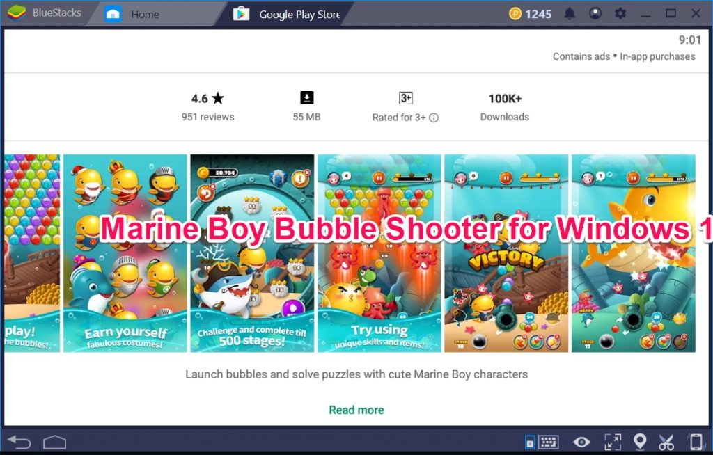 Marine Boy Bubble Shooter for Windows 10