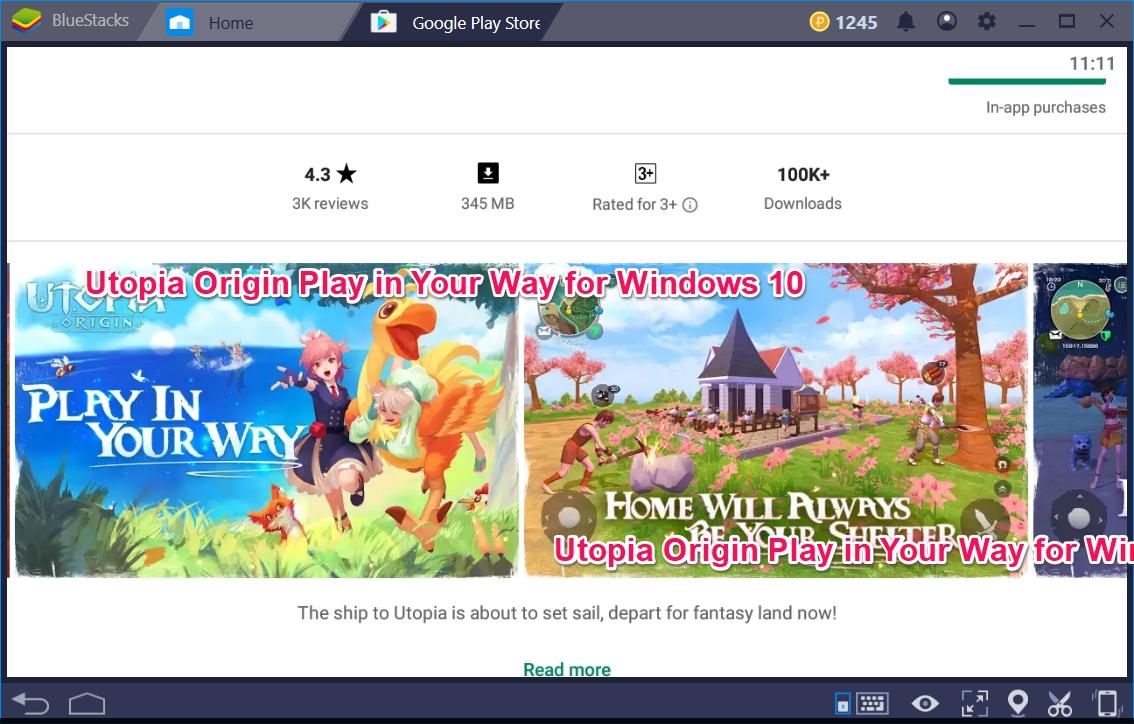 Utopia Origin Play in Your Way for Windows 10 - TechyForPC