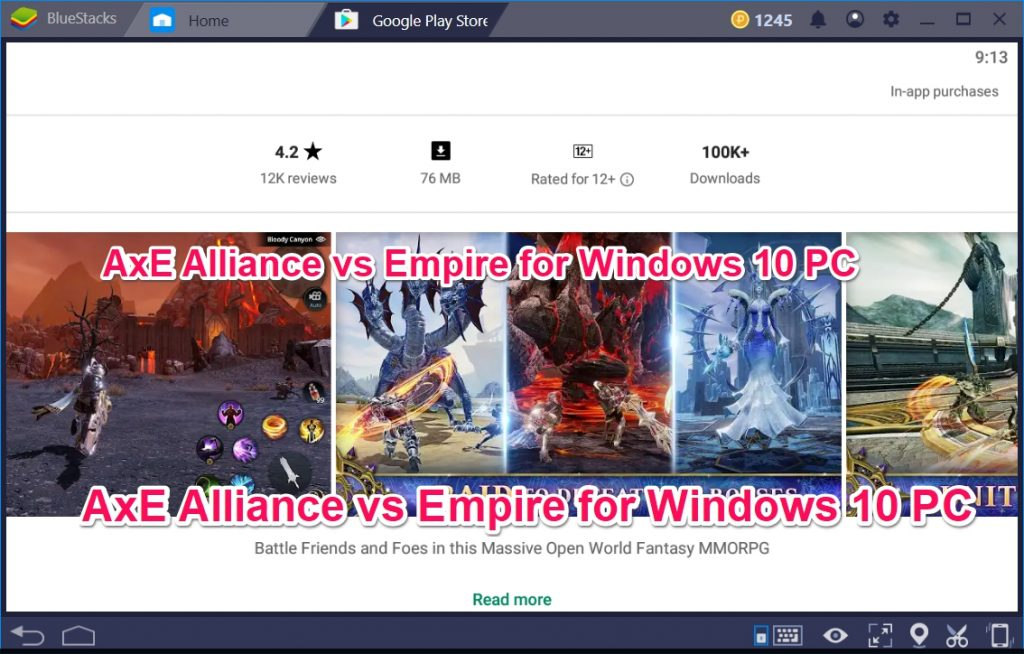 AxE Alliance vs Empire for Windows 10 PC