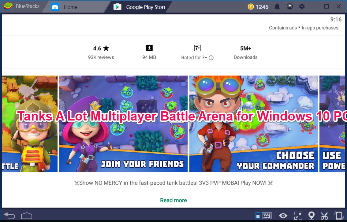Tanks A Lot Multiplayer Battle Arena for Windows 10 PC - TechyForPC