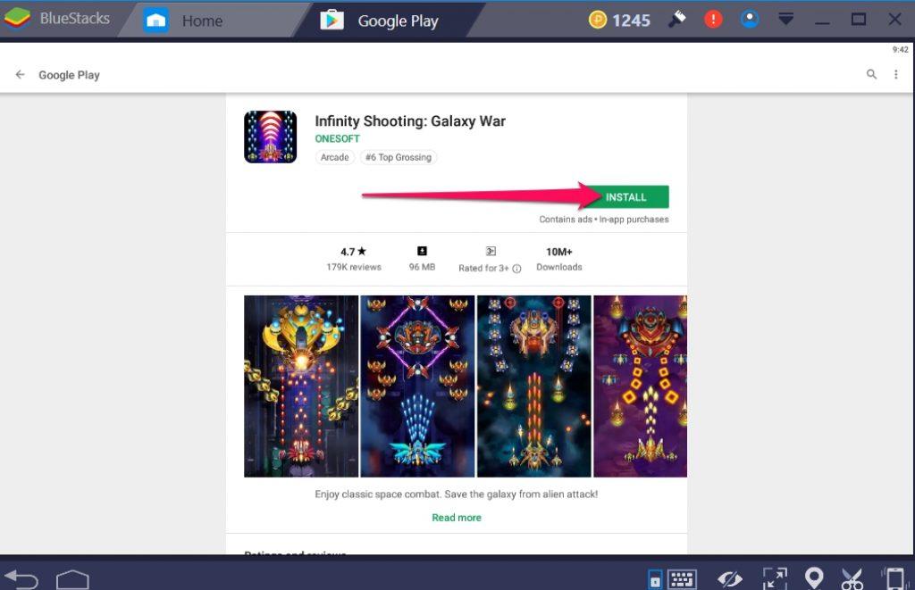 Infinity Shooting Galaxy War for Windows 10 PC