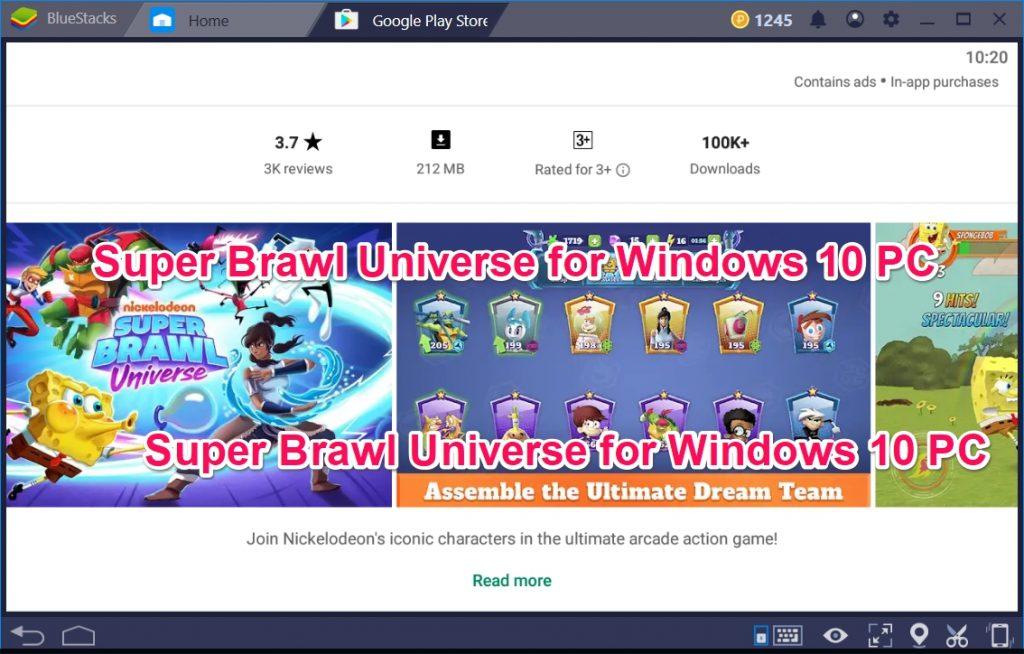 Super Brawl Universe for Windows 10 PC