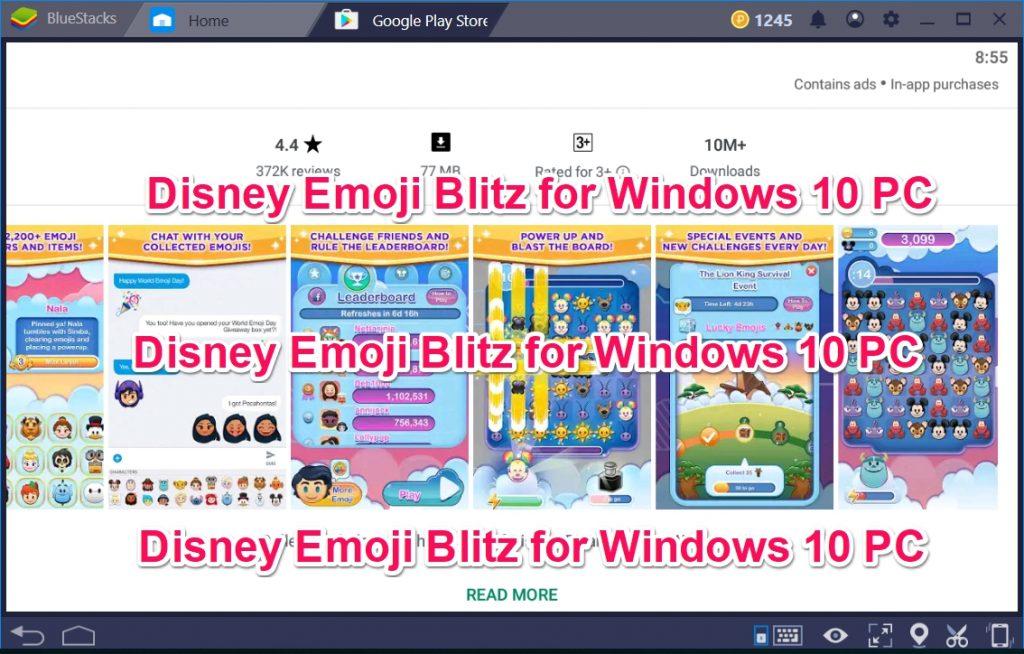 Disney Emoji Blitz for Windows 10 PC