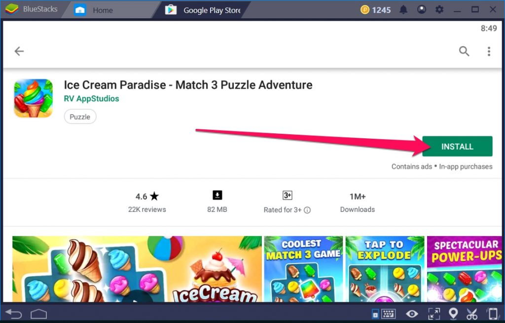 Ice Cream Paradise Match 3 for Windows 10 PC
