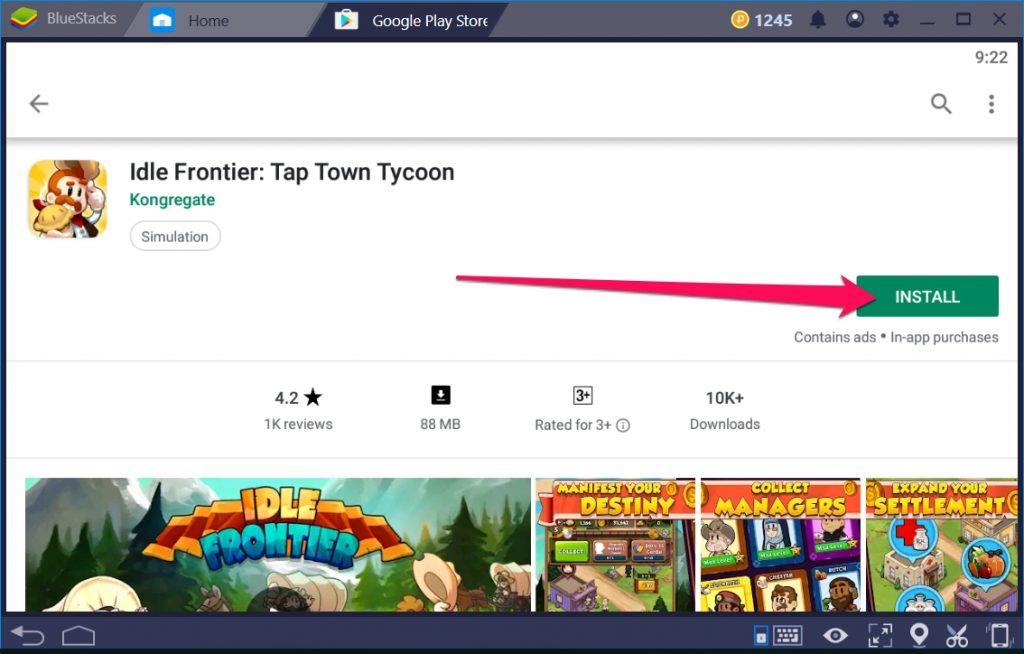 Idle Frontier Tap Town Tycoon for Windows 10 PC