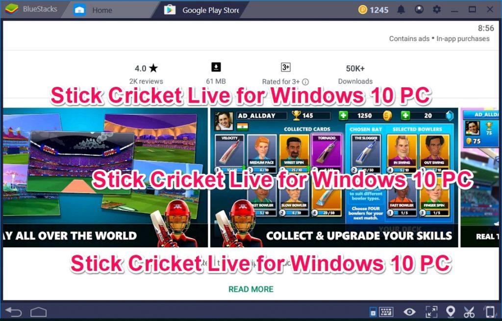 Stick Cricket Live for Windows 10 PC