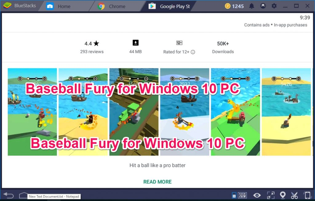 Baseball Fury for Windows 10 PC