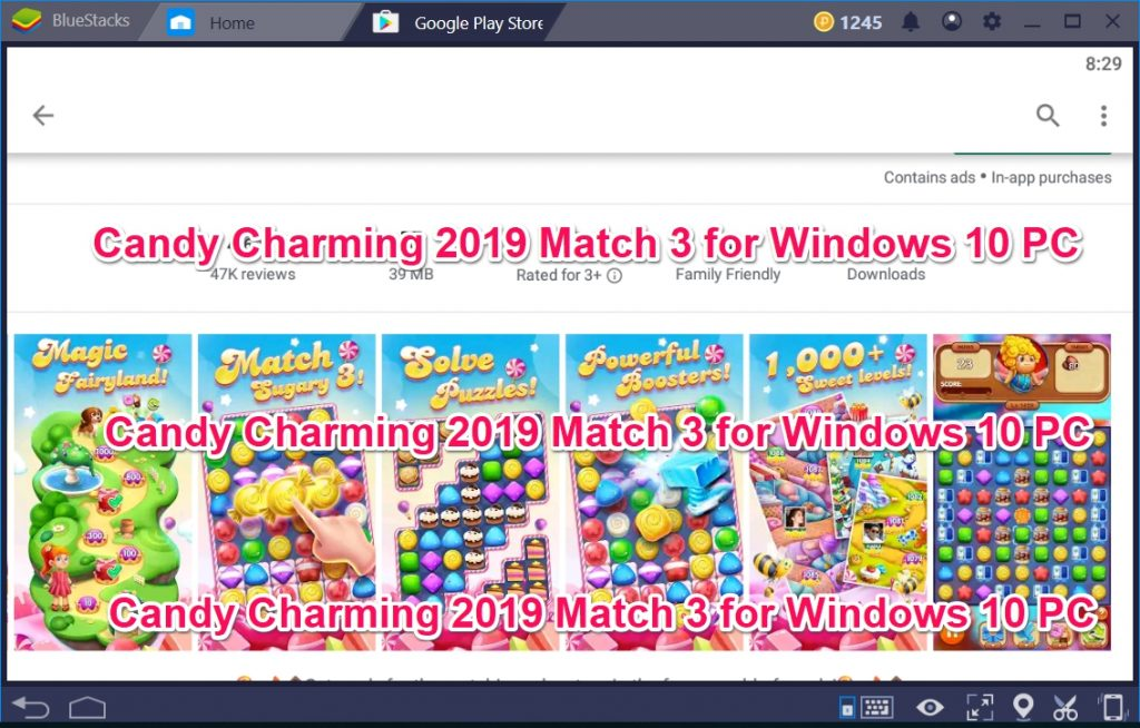 Candy Charming 2019 Match 3 for Windows 10 PC
