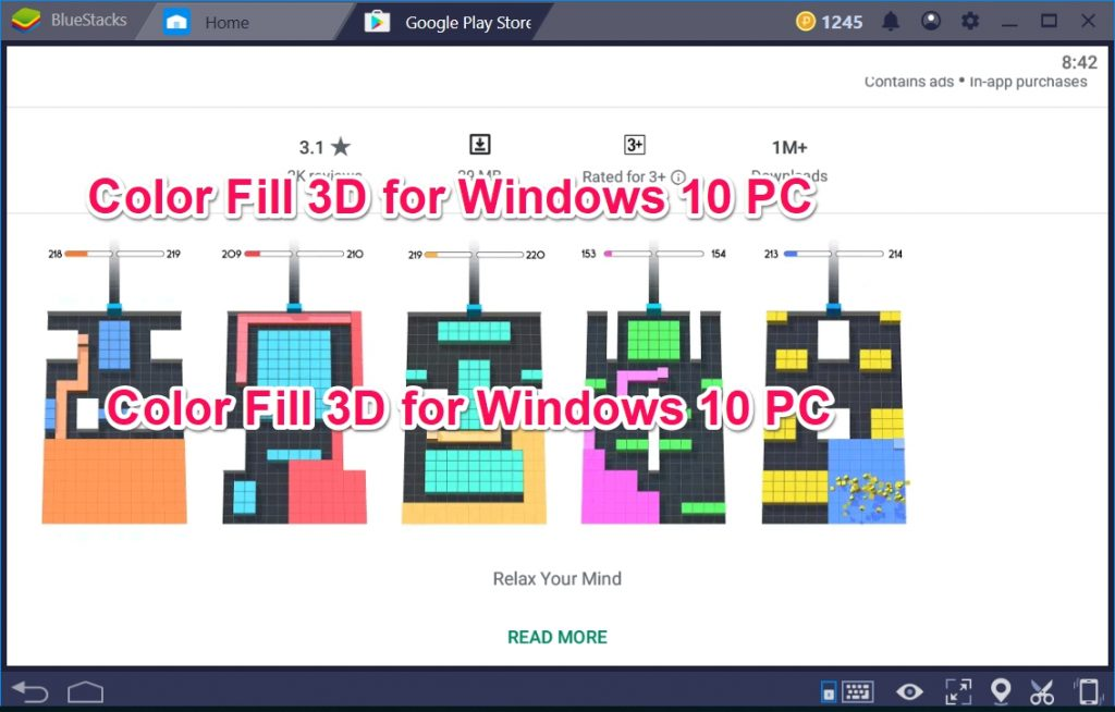 Color Fill 3D for Windows 10 PC