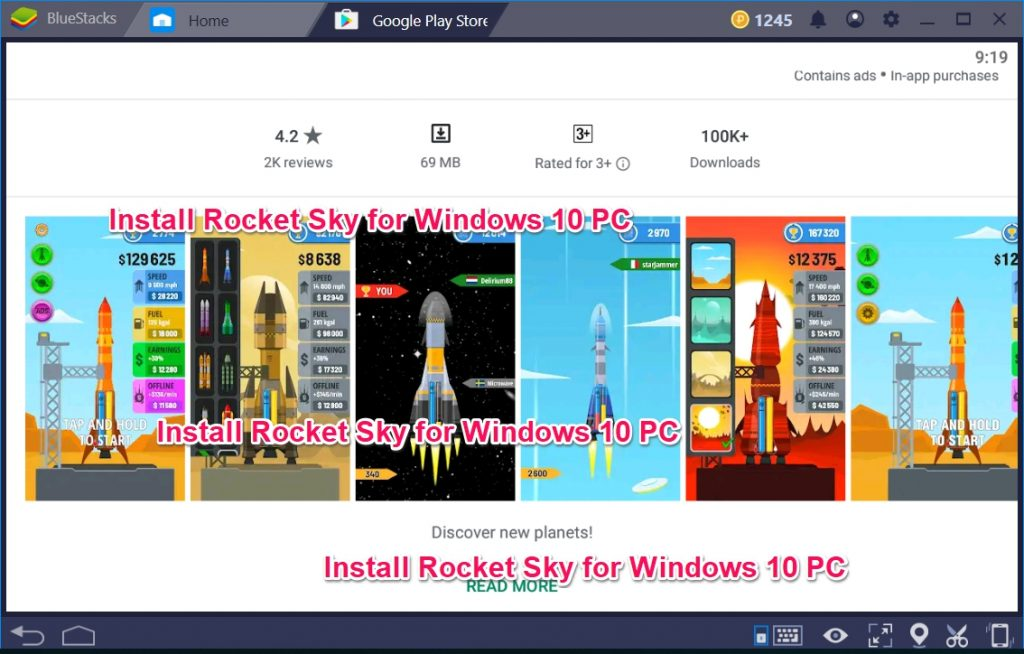 Install Rocket Sky for Windows 10 PC